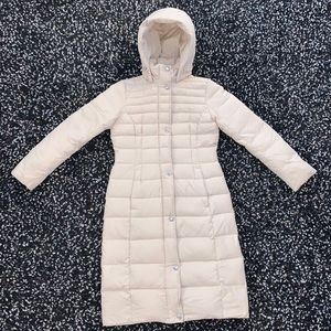 Lands End Long Down Parka Puffer Jacket Size XS